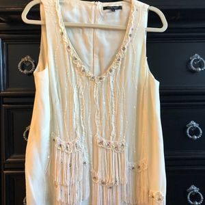Nanette Lepore beaded and sequined blouse